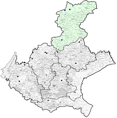 Cartina Dei Comuni Del Veneto.Comuni Veneti Compresi Nelle Fasce Di Protezione Inquinamento Luminoso